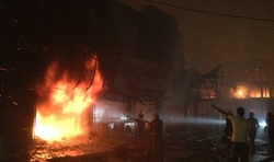 In Baghdad, a suicide bomber blew up a truck