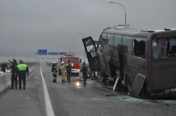 In the accident on the highway Khanty-Mansiysk - Tyumen killed 12 people