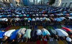 The Muslims continued the feast of Eid al-Adha