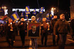 In Slovakia ran provocateur in the Ukrainian flag
