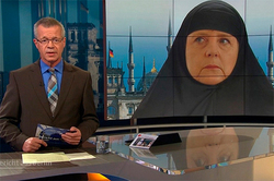 The image of Merkel in a chador shocked the Germans