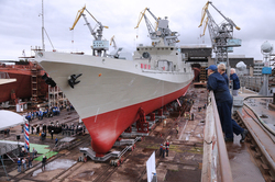 "The newest frigate the ""Admiral Makarov"" completes test"