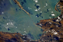 Published photo of the Kerch bridge from space